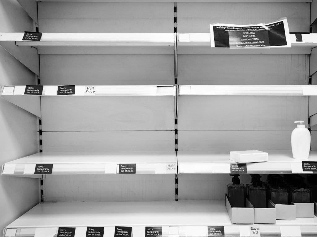 Empty shelves during pandemics can impact all OTC drugs, paper products, PPE, and hand sanitizer.