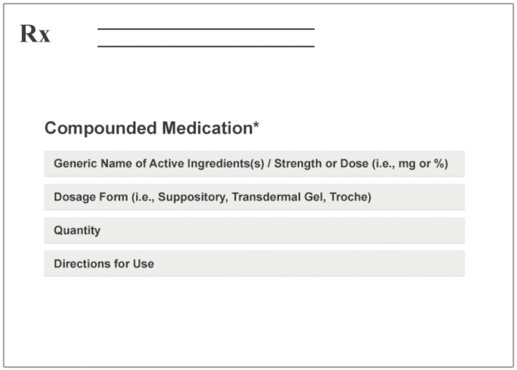 """Prescriptions should begin with the phrase """"Compounded Medication"""""""